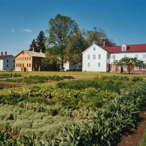Photo of the garden at Canterbury Shaker Village